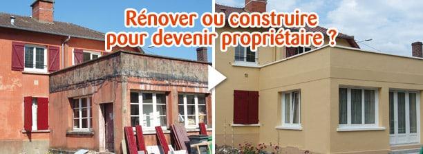 rénover ou construire pour acheter