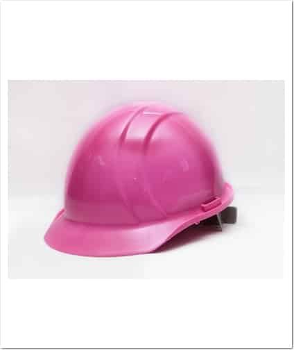 casque chantier rose pinktoolbelts.com