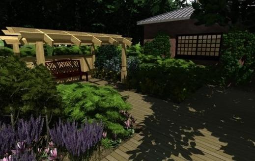 1 maison terrain jardin 3d livecad
