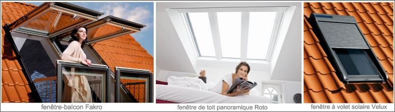 Velux, Roto, Fakro, fabricants de fenêtre de toit