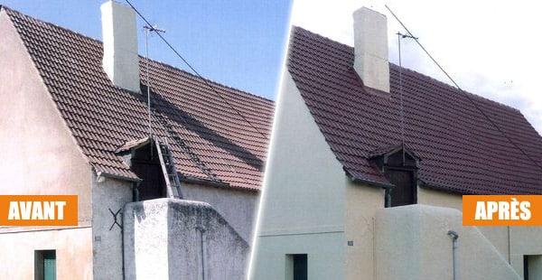 rénovation de toiture avec hydrofuge coloré