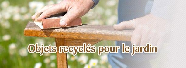déco recyclee pour le jardin