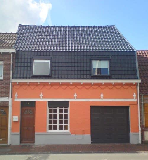 exemple maison toiture, façade 3 couleurs