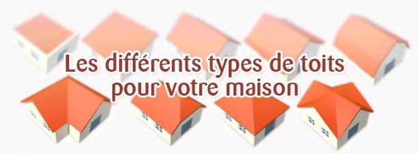les différents types de toits