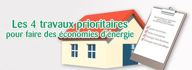 les 4 travaux prioritaires pour faire des économies d'énergie