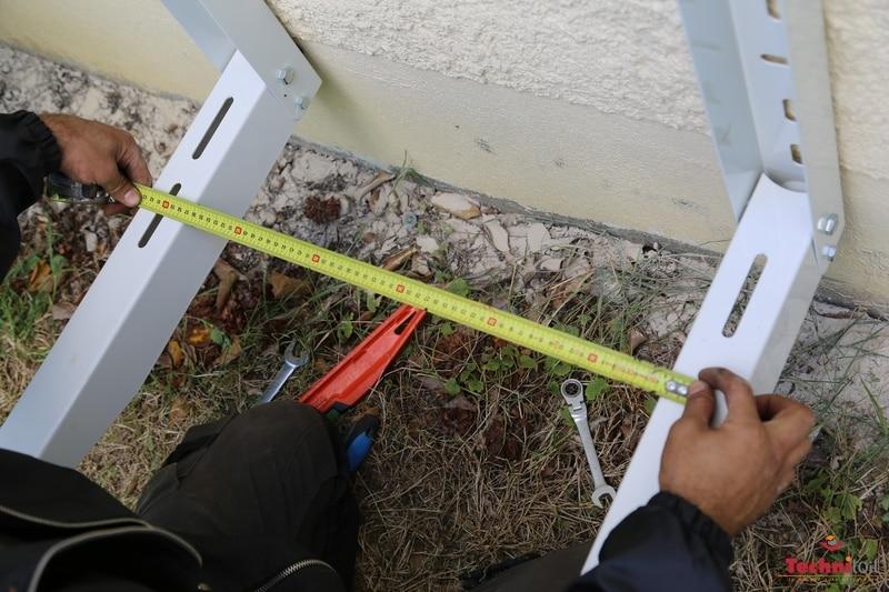 chantier technitoit ercé près liffré mesure entraxe support pompe à chaleur