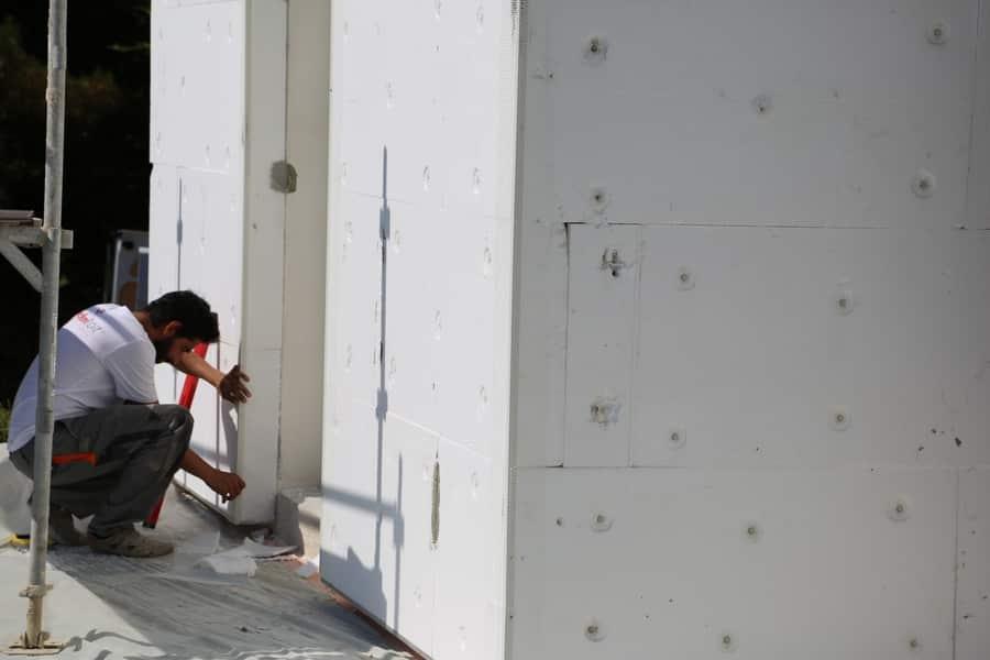 chantier technitoit à tiercé (49), ite + façade + toiture 05