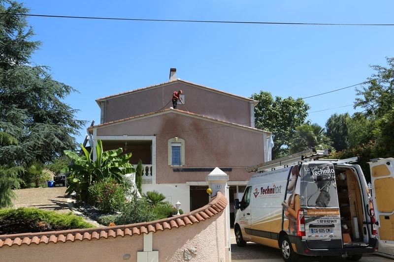chantier renovation toiture bazoges en paillers (85) 06