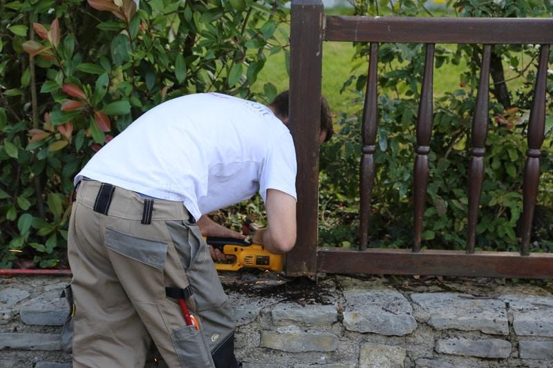 dépose clôture chantier technitoit à chartres, 2 portails et une cloture 07