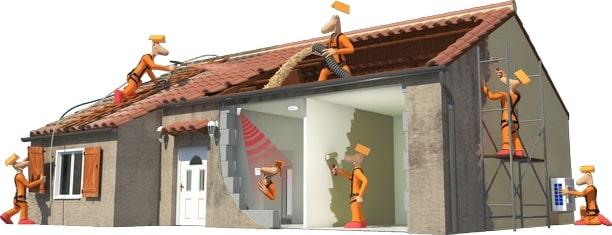 toiture, façade, isolation, menuiserie, énergie, décoration, alarme