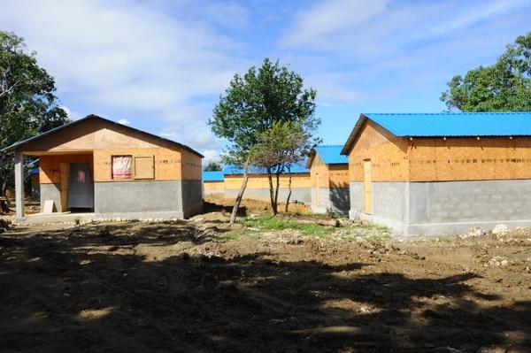 Maisons construites à Haïti avec la fondation SEE