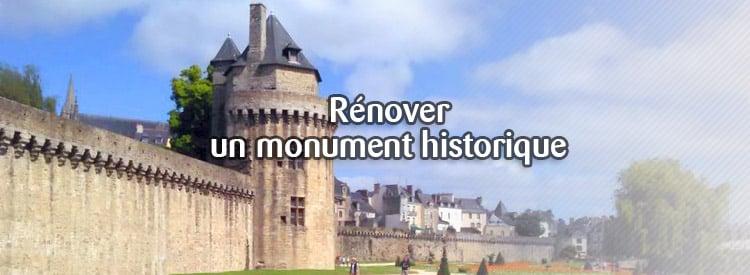 rénover une monument historique