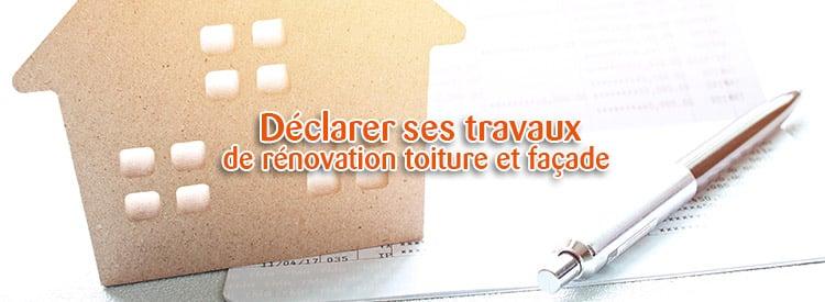 déclarer ses travaux de rénovation façade toiture