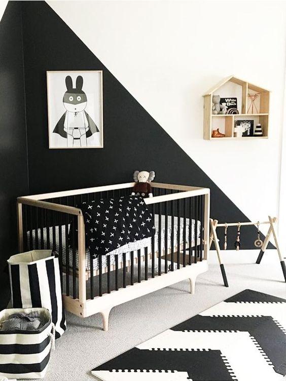 Chambre Enfant Noir Blanc