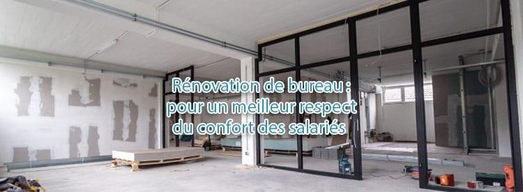 renovation bureaux bien etre salaries